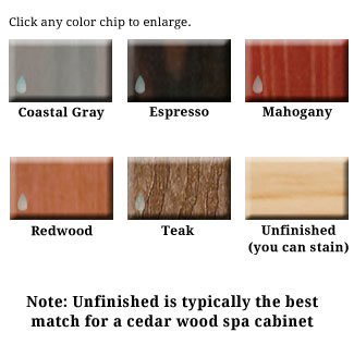 Redwood Spa Accessory Colors