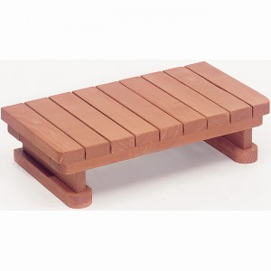 "33"" wide 1 tier Redwood Spa Step"