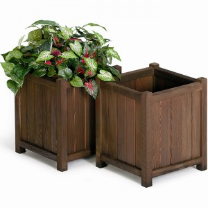 Rectangular Redwood Planter Boxes