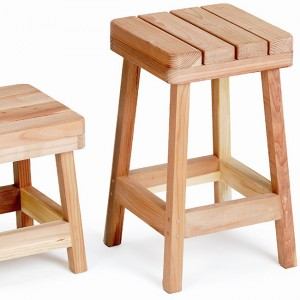 "Redwood Bar Stool 24"" high"