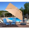 Santorini II Cantilever Umbrella with Valance