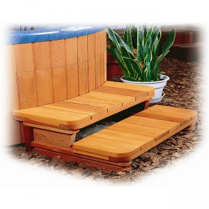 "34"" wide 2 or 3 tier Step for Round Spas"
