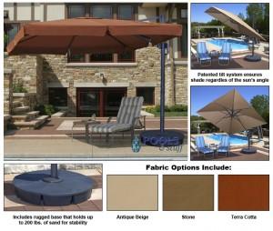 Santorini II Cantilever Umbrella with Valance