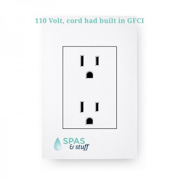 Plug into standard 110 volt 15 amp outlet