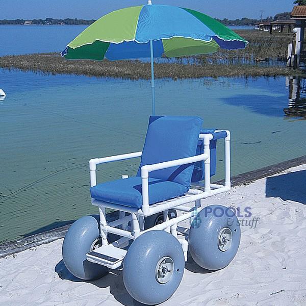 Beach Access Chair - Standard Chair, Four Large Wheels
