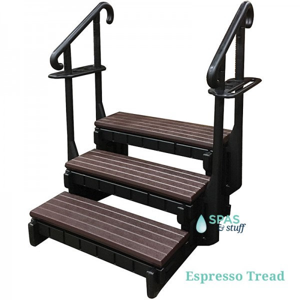 Black Frame, Espresso Treads