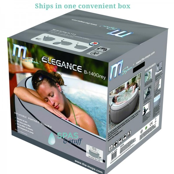 Elegance Portable Inflatable Hot Tub Packaging
