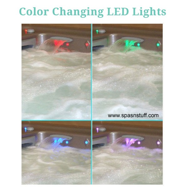 LED's can be set on one color, or a Color Changing Mode
