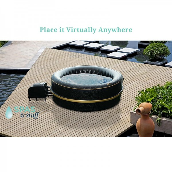 Take the Hydrotherapy Portable Inflatable Hot Tub on vaction.