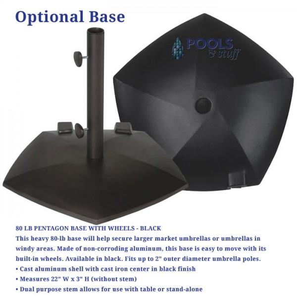 Canton Umbrella with Collar Tilt - Options