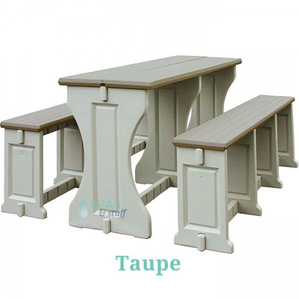 Picnic Table / Bench Set - Taupe