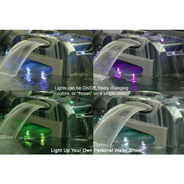 LED Lights can lock on a single color or change colors
