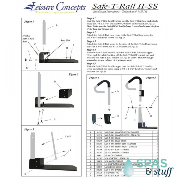 Safe-T-Rail II Instructions