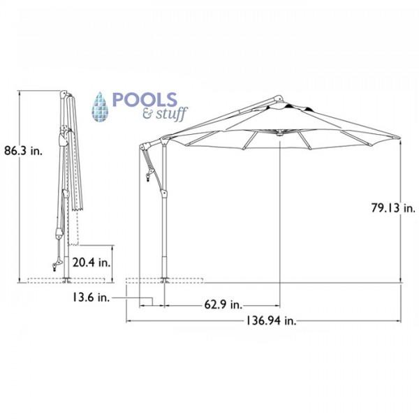 Tobago Cantilever Umbrella - Specs