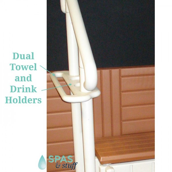 2 Handrails with Towel Racks and Drink Holders
